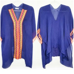 HUMMINGBIRD | Embroidered Tunic Poncho Dress